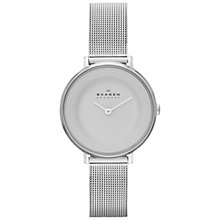 Buy Skagen SKW2211 Women's Ditte Stainless Steel Mesh Bracelet Strap Watch, Silver Online at johnlewis.com