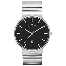 Buy Skagen SKW6109 Men's Ancher Steel Wave Link Watch, Silver Online at johnlewis.com