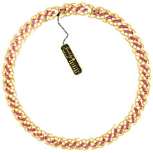 Buy Eclectica Vintage 1950s Trifari Gold Plated Pink Stones Necklace Online at johnlewis.com