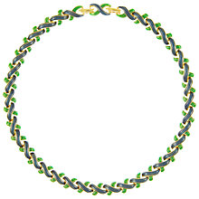 Buy Eclectica Vintage 1960s Enamel Plated Necklace, Navy / Green Online at johnlewis.com