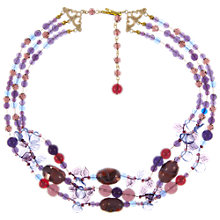 Buy Eclectica Vintage 1960s Assorted Glass Bead Necklace, Purple Online at johnlewis.com