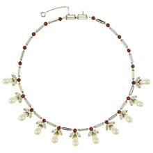 Buy Eclectica Vintage 1950s Austrian Crystal Faux Pearl Formal Necklace, White Online at johnlewis.com