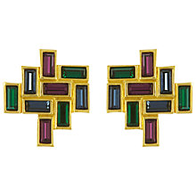 Buy Eclectica 1980s Swarovski Geometric Earrings, Multi Online at johnlewis.com