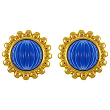 Buy Eclectica Vintage 1980s Monet Clip-on Earrings, Blue / Gold Online at johnlewis.com