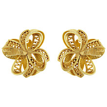 Buy Eclectica Vintage 1980s Oscar De La Renta Bow Clip-On Earrings, Gold Online at johnlewis.com