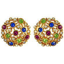 Buy Eclectica Vintage 1980s Swarovski Clip-On Earrings, Multi Online at johnlewis.com