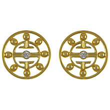 Buy Eclectica Vintage 1980s Givenchy Rhinestone Earrings, Gold Online at johnlewis.com