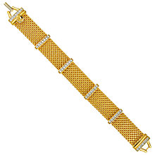 Buy Eclectica Vintage 1980s Swarovski Gold Plated Bracelet Online at johnlewis.com