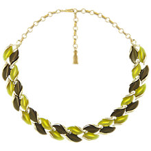Buy Eclectica Vintage 1950s Coro Thermoplastic Set Necklace, Green Online at johnlewis.com