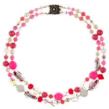 Buy Eclectica Vintage 1950s Venetian Glass and Plastic Bead Necklace, Pink Online at johnlewis.com