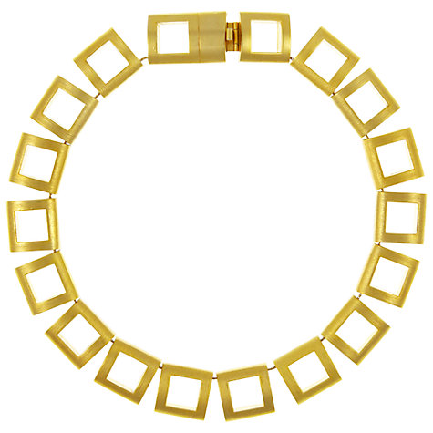 Buy Eclectica Vintage 1980s Helena Rubenstien Geometric Gold Plated Necklace Online at johnlewis.com