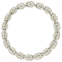 Buy Eclectica Vintage 1950s Trifari Open Leaf Chrome Plated Necklace Online at johnlewis.com