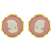 Buy Eclectica Vintage 1980s Wedgewoood Jasperware Round Clip-On Earrings,  Pink Online at johnlewis.com