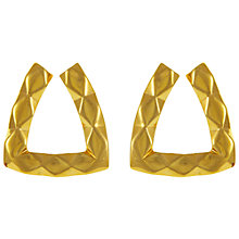 Buy Eclectica Vintage 1980s Monet Gold Plated Clip-on Earrings, Gold Online at johnlewis.com
