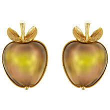 Buy Eclectica Vintage 1960s Sarah Coventry Apple Clip-On Earrings, Peach Online at johnlewis.com