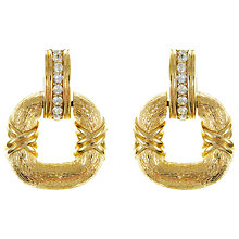 Buy Eclectica Vintage 1970s Ciner Hoop Earrings, Gold Online at johnlewis.com
