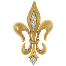Buy Eclectica Vintage 1960s Trifari Fleur Di Lis Relief Gold Brooch Online at johnlewis.com