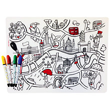 Buy Modern Twist London Scene Mark Mat and Pens Online at johnlewis.com