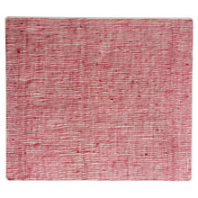 Buy Modern-twist Linen Rectangle Placemat, Red, Large Online at johnlewis.com