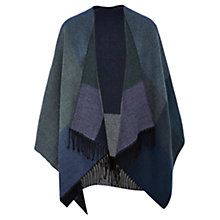 Buy Viyella Oversized Check Scarf, Blue Online at johnlewis.com