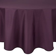 Buy John Lewis Mezzo Purple Tablecloth, Dia.180cm Online at johnlewis.com