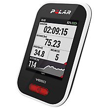 Buy Polar V650 Cycling Computer, Black Online at johnlewis.com