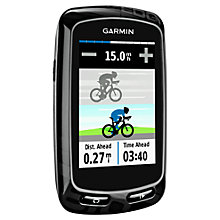 Buy Garmin Edge 810 GPS Touchscreen Bike Computer + Heart Rate Monitor, Black Online at johnlewis.com