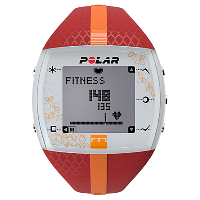 Polar FT7 Heart Rate Monitor Sports Watch, Red/Orange