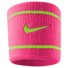 Buy Nike Dri-FIT Wristband, Pink/Green Online at johnlewis.com