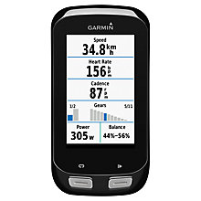 Buy Garmin Edge 1000 Touchscreen Bike Computer Performance Bundle, Black Online at johnlewis.com