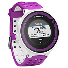Buy Garmin Forerunner 220 Running Watch + Heart Rate Monitor, Purple/Black Online at johnlewis.com
