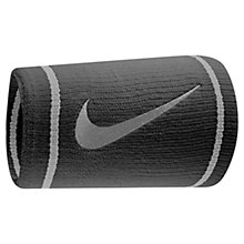 Buy Nike Dri-FIT Double Wide Wristband, Black Online at johnlewis.com