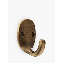 Buy John Lewis Oval Tieback Hooks, Pair, Antique Brass Online at johnlewis.com
