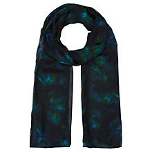 Buy Jigsaw Floral Scarf, Green Online at johnlewis.com
