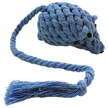 Buy Fred & Ginger Rope Mouse Cat Toy, Blue Online at johnlewis.com