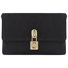 Buy Dune Ebeauti Suede Clutch Bag, Black Online at johnlewis.com