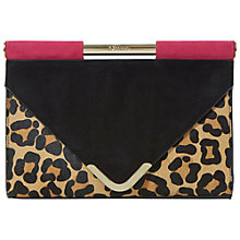 Buy Dune Ebarrio Suede Clutch, Black Online at johnlewis.com
