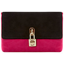 Buy Dune Beauti Suede Clutch, Pink Online at johnlewis.com