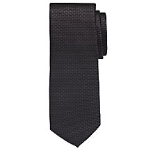 Buy CK Calvin Klein Pave Geo Silk Tie, Black Online at johnlewis.com