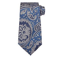 Buy Ralph Lauren Jacquard Paisley Tie, Blue Online at johnlewis.com