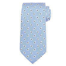 Buy Ralph Lauren Mini Paisley Houndstooth Silk Tie, Blue Online at johnlewis.com