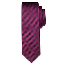 Buy Calvin Klein Geo Dot Silk Tie, Fuchsia Online at johnlewis.com
