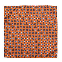 Buy JOHN LEWIS & Co. Saunders Paisley Print Pocket Square, Gold Online at johnlewis.com