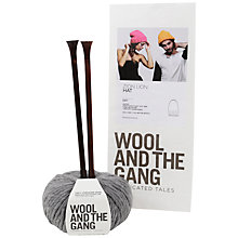 Buy Wool and the Gang Zion Lion Hat Knitting Kit, Tweed Grey Online at johnlewis.com