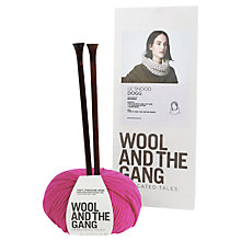 Buy Wool and the Gang Lil' Snood Dogg Knitting Kit, Hot Punk Pink Online at johnlewis.com