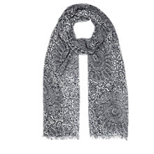 Buy Jigsaw Baroque Tile Print Scarf, Blue Online at johnlewis.com