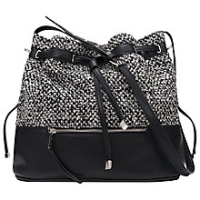 Buy French Connection Lillia Duffle Bag, Black/White Online at johnlewis.com