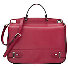 Buy French Connection Talia Leather Satchel Bag, Berry Punch Online at johnlewis.com