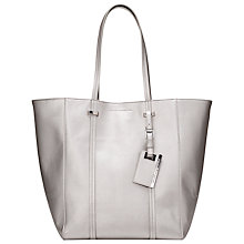 Buy French Connection Aubree Textured Tote Bag, Silver Online at johnlewis.com