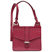 Buy French Connection Elina Leather Across Body Bag, Berry Punch Online at johnlewis.com